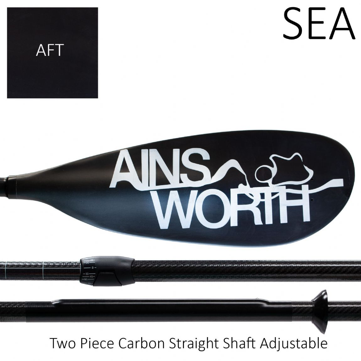 SEA (AFT) Two Piece Carbon Straight Shaft Adjustable